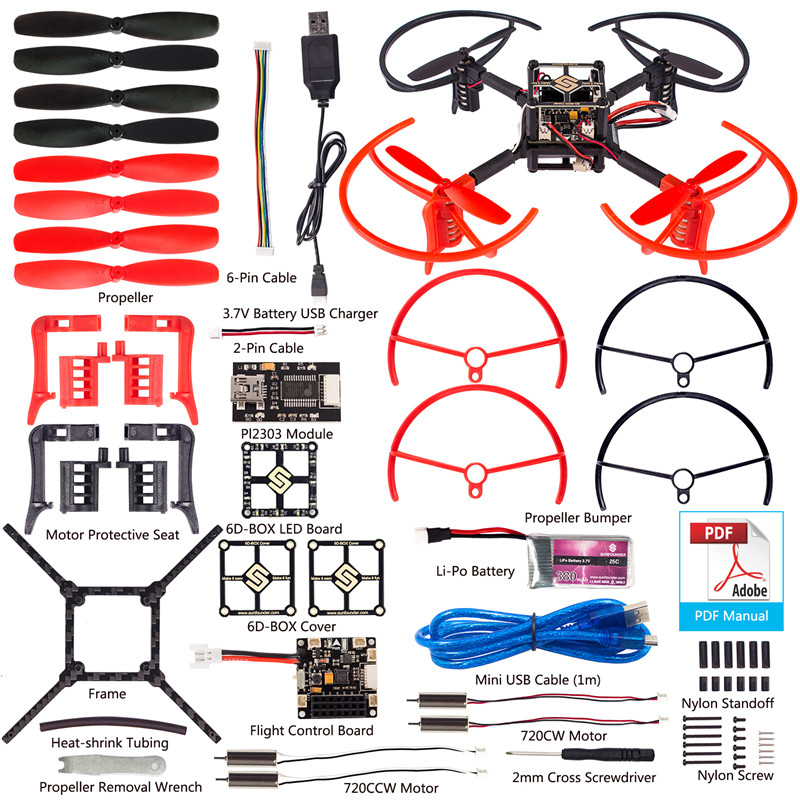 Sunfounder d box mwc multiwii drone quadcopter kit for