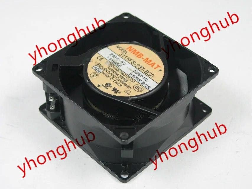 NMB-MAT 3115FS-23T-B30 A00 AC 230 V 9.5/8 W 80x80x38mm ventilateur refroidisseur de serveur