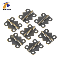 Fast Shipping 50pcs 25 30mm Butterfly Wooden Wine Box Antique Hinge Metal Small Hinges Crafts Flat