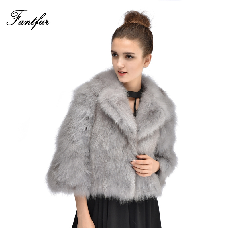 Aliexpress.com : Buy FANTFUR European Leather Short Fox Fur Coat ...