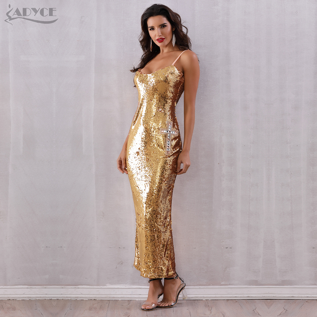 Backless Spaghetti Strap Sequin Club Dress 2