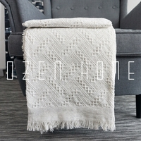 Knitted Blanket Cotton Solid Sofa Weighted Blanket Cloth Sofa Soft Carpet Blanket Tassels Throw Blanket Plaid Bedspreads