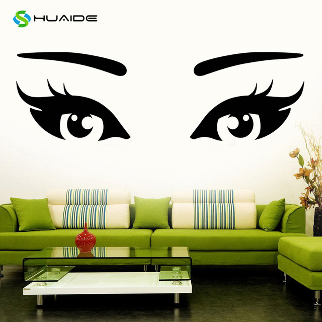 Aliexpresscom  Buy Girl Wall Decals Sexy Eyes Beauty Salon Vinyl - Wall decals eyes