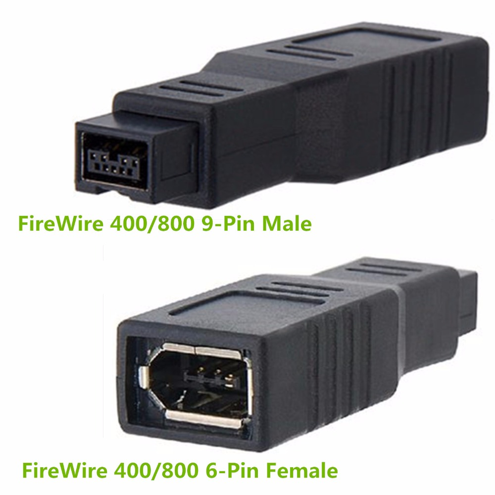 FireWire 400/800 6 Pin Female to 9 Pin Male IEEE1394a 1394b Adapter ...