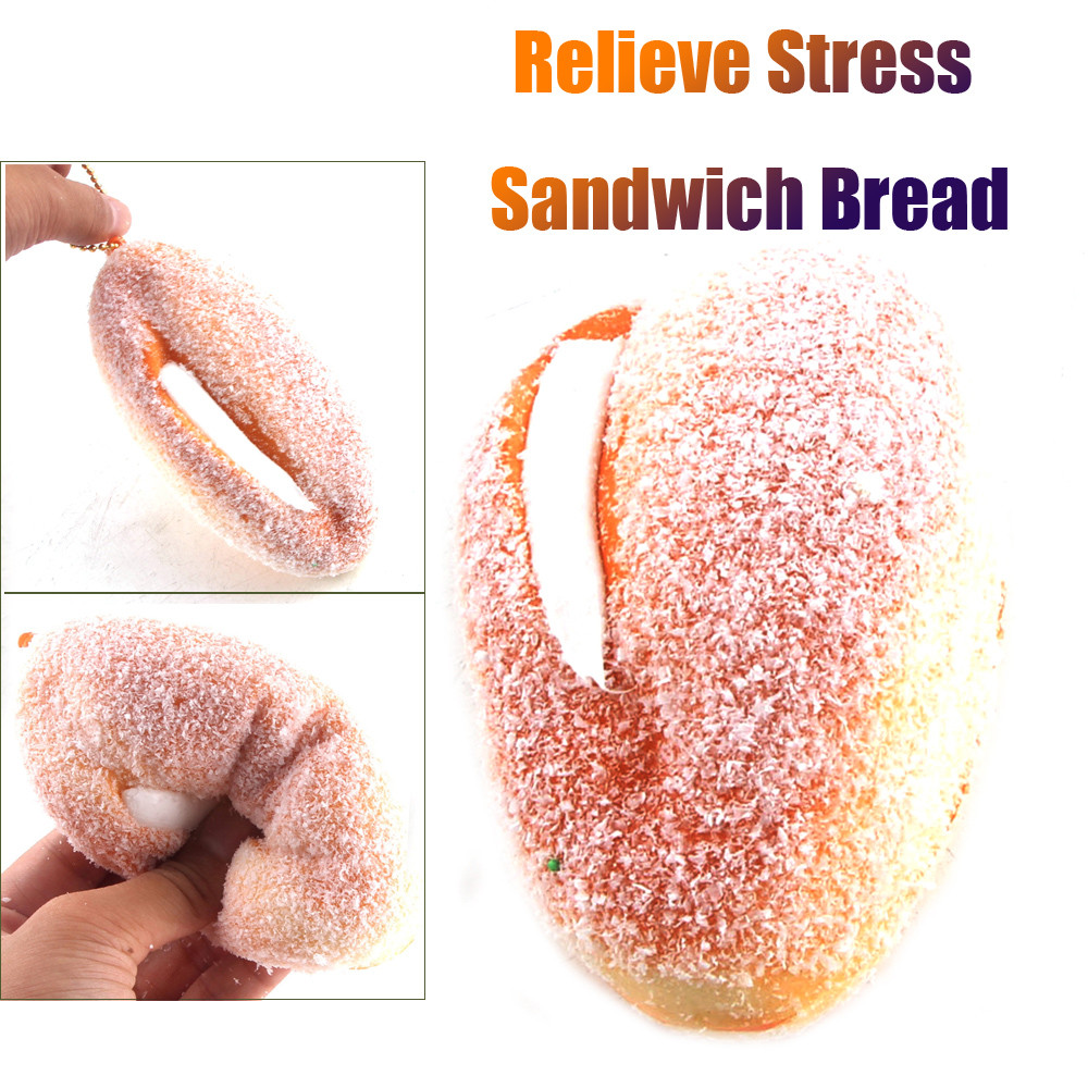 Relax Toys Simulation Sandwich Bread Slow Rising Squeeze Relieve Stress Toy Key Pendant Squishies Soft Scented Amusing W624