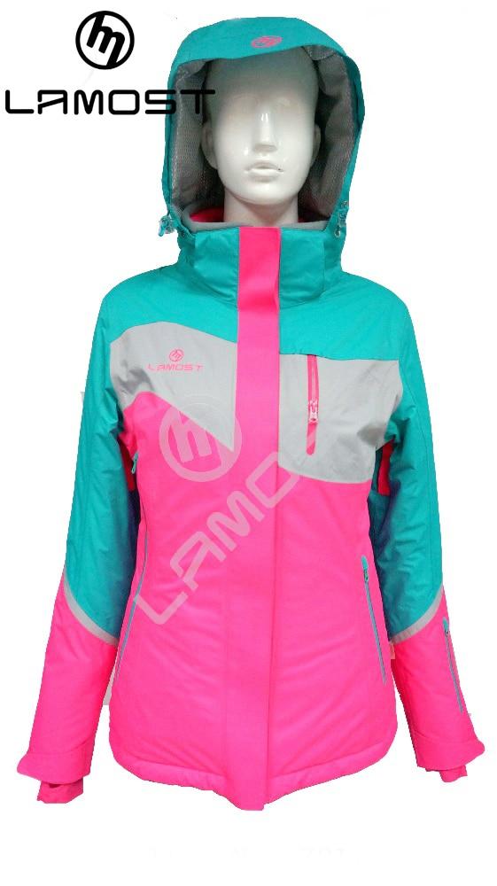 Prix pour LAMOST gros femmes fashional neige ski vestes sx-2xl neige combinaison de ski femmes snowboard vêtements de ski dames veste