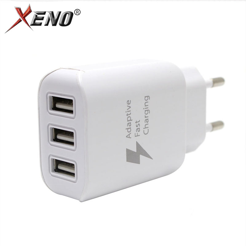 USB Fast Charger Mobile Phone EU Plug Wall Adapter Charging for Iphone 3Port usb oneplus ipad charger