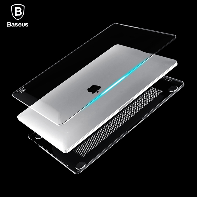 Baseus brand Laptop Case For Apple New Macbook Pro 13 15 2016 Model A1706 A1707 With Touch Bar Clear Crystal Full Body Cover  on AliExpress
