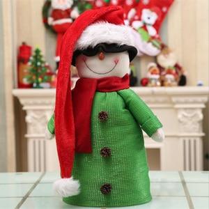 Длинная Рождественская шапка для взрослых и детей, плюшевая шапка Санта-Клауса, новогоднее и Рождественское украшение для вечеринки