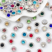 Mix Color Flatback Rhinestones For Sewing Clothes Flower Shape Loose Decorative Diy Craft Glass Sew On Stones S138
