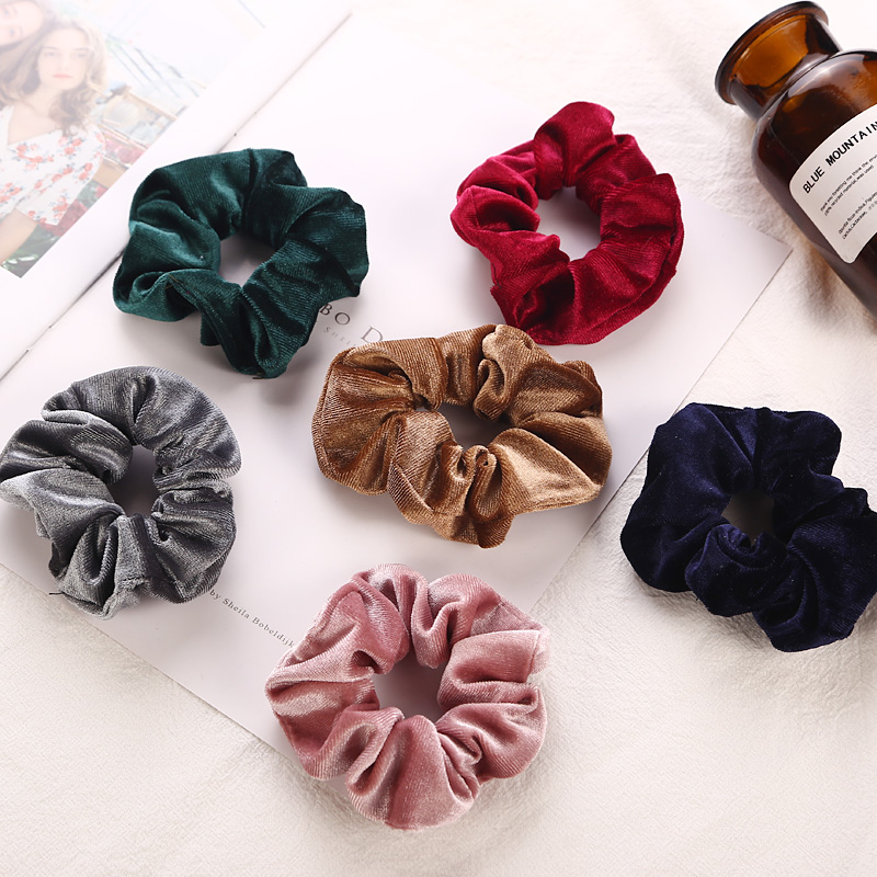 Apparel Accessories Girl's Hair Accessories 5pcs Women Flower Solid Elastic Hair Bands Ponytail Holder Scrunchies Beads Tie Hair Rubber Band Headband Lady Hair Accessories