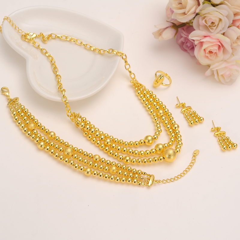 Gold Color Bead Jewelry...