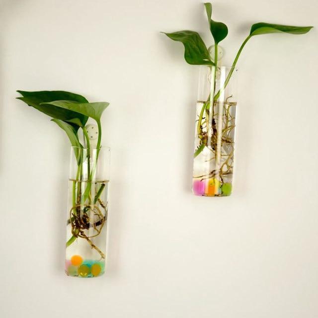 Online Shop 6 Shapes Clear Hanging Glass Vase Flower Plants