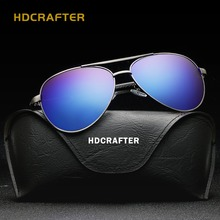 HDCRAFTER Brand Vintage Mens Polarized Sunglasses Fishing Driving Outdoor Sun Glasses Male Eyeglass with Box Free Shipping