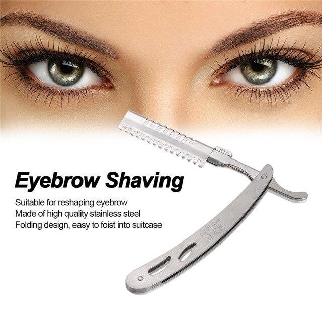 Aliexpress Buy Eyebrow Shaving Straight Razor Stainless Steel