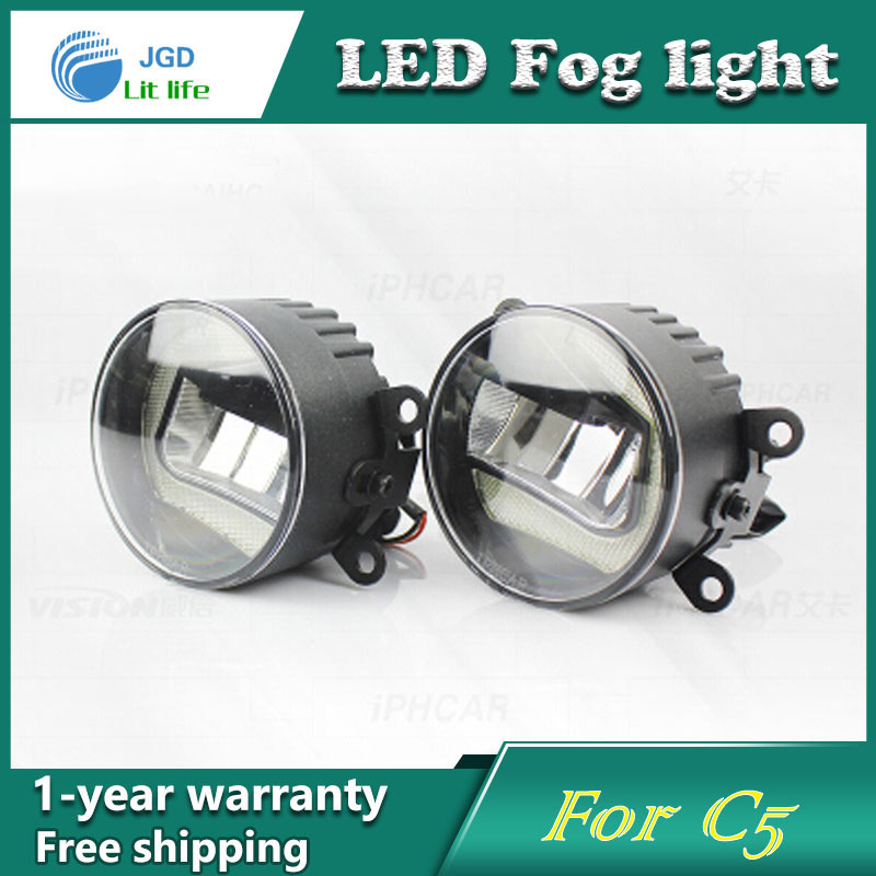 Super White LED Daytime Running Lights case For Citroen C5 Drl Light Bar Parking Car Fog Lights 12V DC Head Lamp super white led daytime running lights case for toyota yaris 2014 2015 drl light bar parking car fog lights 12v dc head lamp
