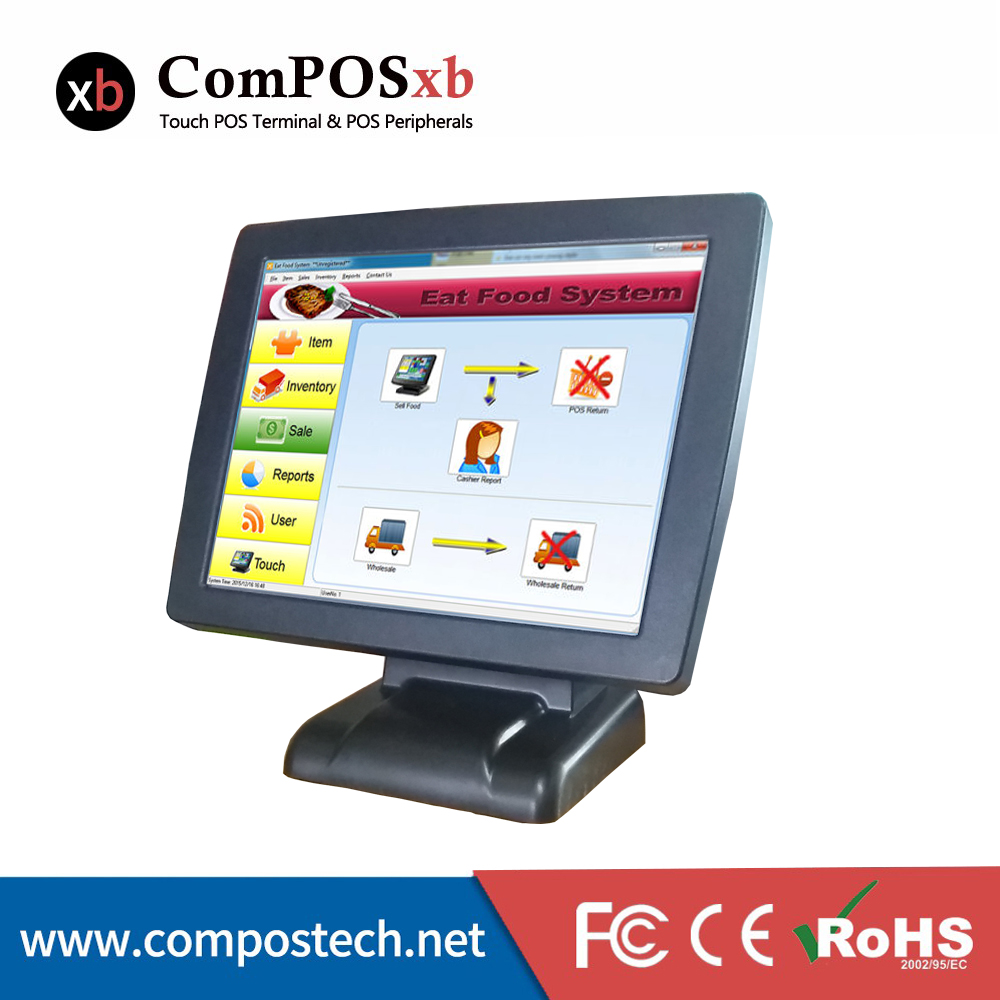 15 Inch All In One Pos System Touch Screen Pos Terminal With OEM Pos Machine For Supermarket цена 2017