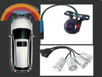 Car Blind Spot Radar Detection front View visible Monitor Sensor Safety System w 4 OBD front sensor and 1 HD front view camera