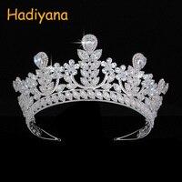 Hadiyana Trendy Neo Gothic Bride Copper Crowns Tiara Luxury Rhinestone For Women Wedding Crown Anniversary Party Hot Sale BC4641