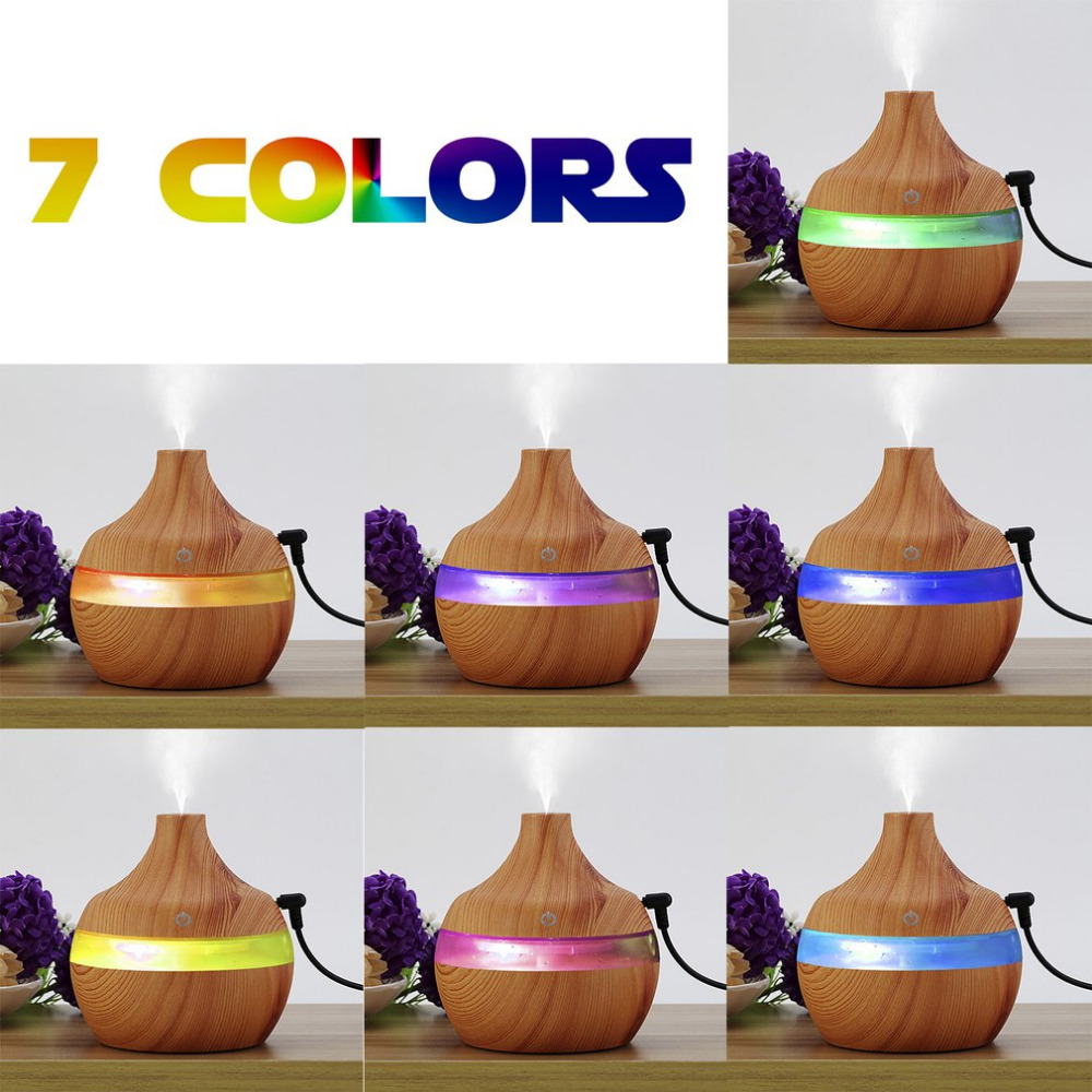 300mL wood grain Aromatherapy diffuser essential oil diffuser usb ultrasonic humidifier aromatherapy car diffusers for home room цены онлайн