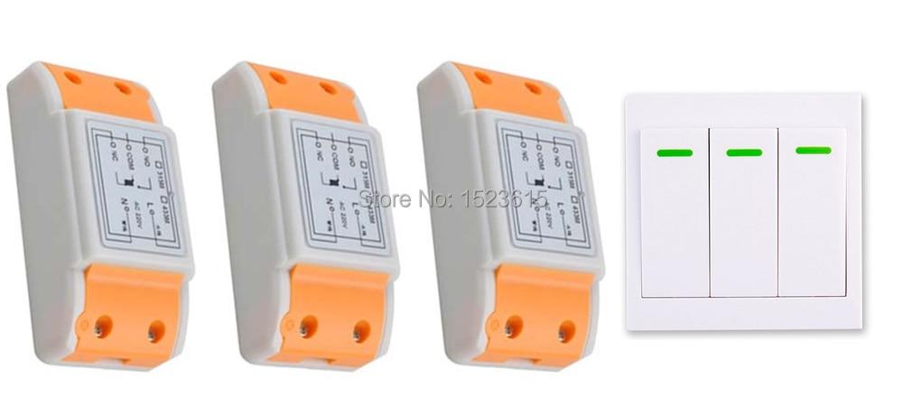 Nueva AC 220 V 1CH Inalámbrico Interruptor del Sistema de Control Remoto recepto