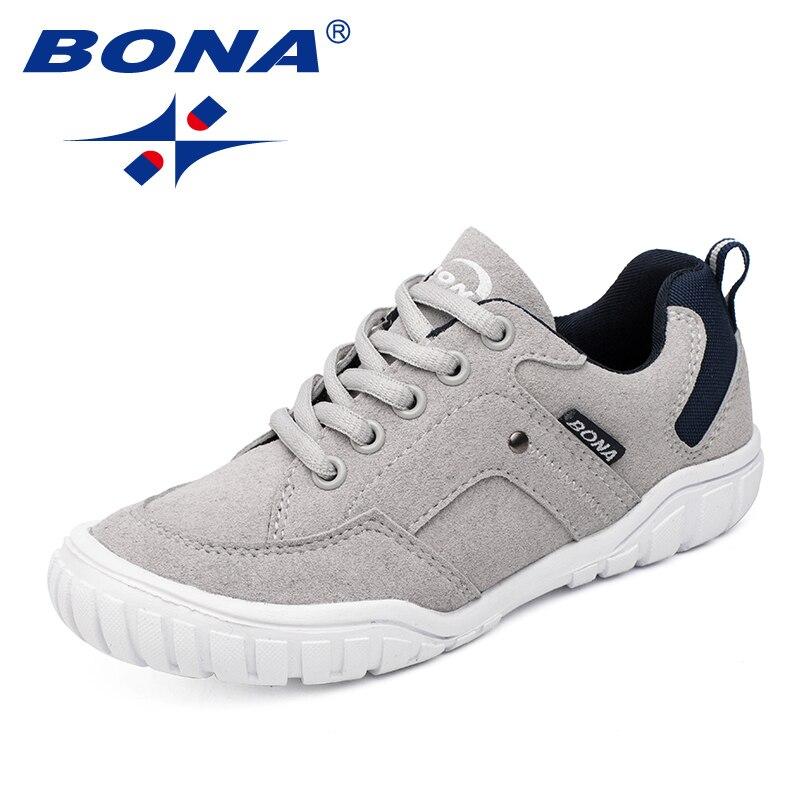 BONA Neue Klassiker Stil Kinder Casual Schuhe Outdoor Walking Jogging Turnschuhe Spitze Up Jungen & Mädchen Schuhe Schnelles Freies Verschiffen