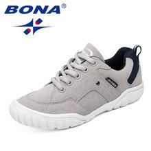 Bona новый классический стиль детская повседневная обувь для