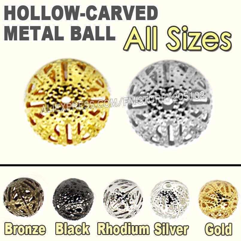10pcs Brass Metal Beads Loose Cubic Zirconia Rhinestone