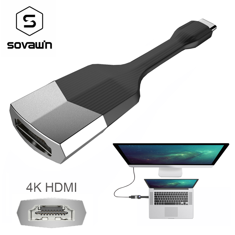 USB3.1 4K USB Type C To HDMI HD Cable Adapter Portable Mini Type C Converter High Speed For Macbook for PC for Samsung GALAXY S8 usb c type c to hdmi vga 3 5mm audio adapter 3 in 1 usb 3 1 type c cable converter for macbook to tv display monitor projector