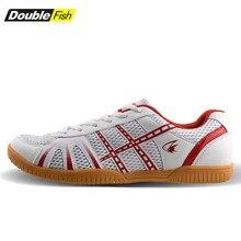 Новое поступление, обувь для настольного тенниса с двойной рыбой для мужчин и женщин, дышащие Нескользящие кроссовки для пинг-понга, 878