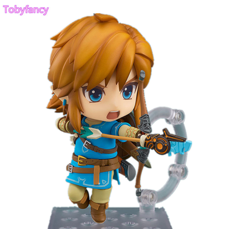 The Legend of Zelda Link Nendoroid Breath of the Wild Ver PVC Action Figure 100mm Model Toys Zelda Nendoroid Toy фигурка planet of the apes action figure classic gorilla soldier 2 pack 18 см