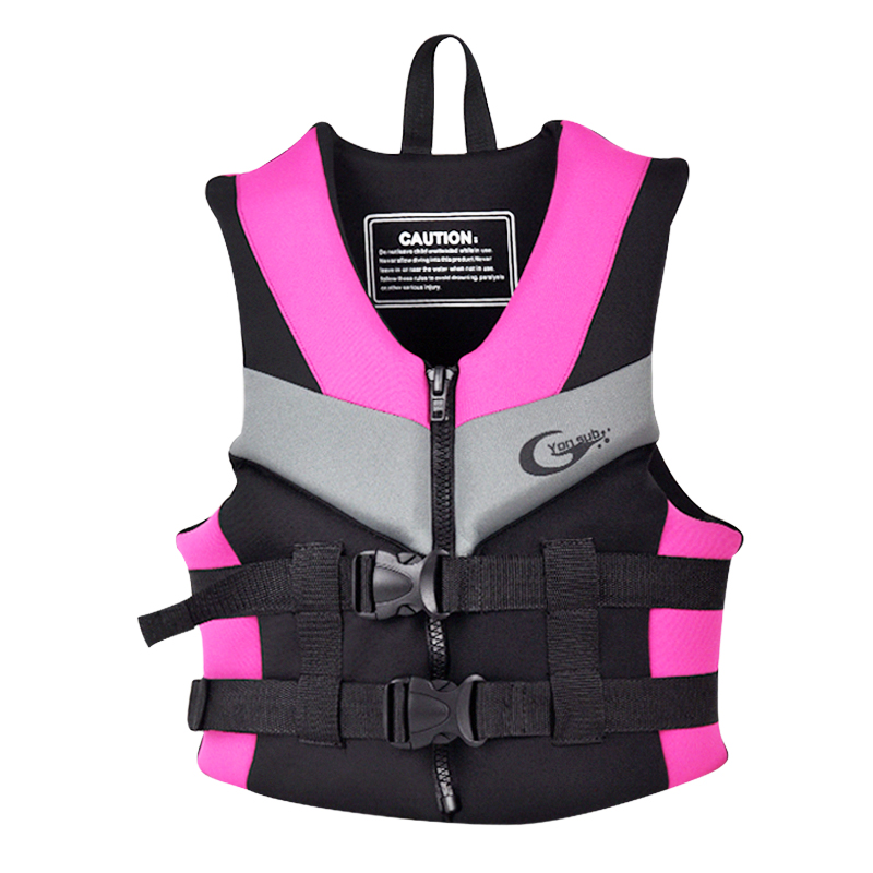 Neoprene Lifevest Kids and Adult Floating Lifejacket For Beach Drifting Surfing Fishing Rafting Three Color