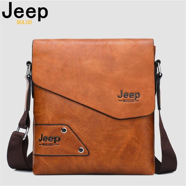 JEEP BULUO Messenger Bag do Homem 2 PCS Sst Hot Venda Nova Crossbody Sacos de Ombro Para Homens de Negócios Casuais de Alta sacolas de Couro De qualidade