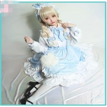 Anime Cosplay Costume Miracle Nikki White Bunny Candy Lolita Dress Handmaid's Dress Daily Dress Z