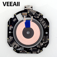 VEEAII Qi Wireless Charger 10W 7.5W PCBA Circuit Board Coil 10w Wireless Charging USB Port DIY For Samsung S8 S9 honor note10
