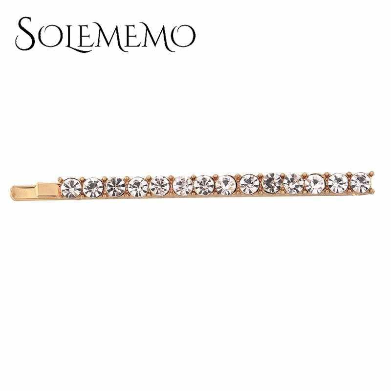 จำลองไข่มุก Rhinestone Golden Star Hair Pins Hairclips ผู้หญิงหญิงเครื่องประดับ Elegant คลิปผม Barrtte อุปกรณ์เสริมผม F0343