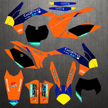 For KTM EXC 14 15 SX SXF 13 14 Free Customized Name Graphics & Backgrounds Number Stickers Decal SX F 2013 2014
