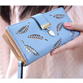 Women PU Hollow Leaves Leather Clutch Wallet Female Case Phone Money Bag Purse Card Holder for Lovely Christmas Gift