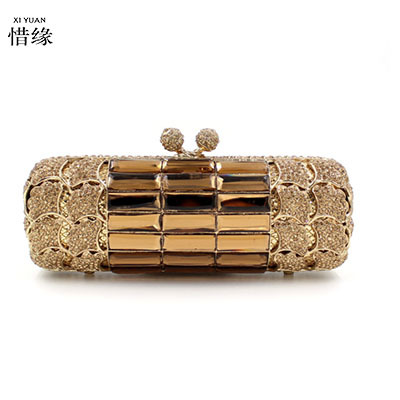 XIYUAN BRAND women 2017 luxury full diamond evening shoulder bag fashion handbags female cross body messenger bags mini gift box