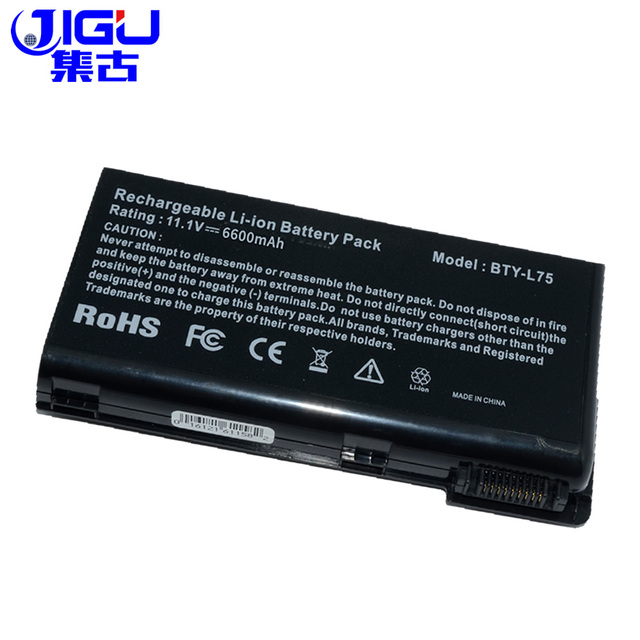 US $27 25 7% OFF|JIGU Special Price New 6600 Mah 9 Cells Laptop Battery For  MSI BTY L75 CX623 CX500 CX500DX CX705X A7005 BTY L74-in Laptop Batteries