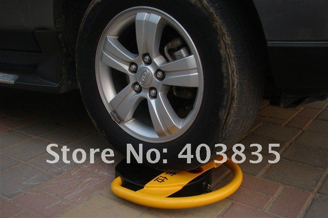 Automatic car parking barrier with 2 remote controls - Battery -No Parking Cars (no battery included) parking post bollard remote controls automatic parking barrier reserved car parking lock parking facilities