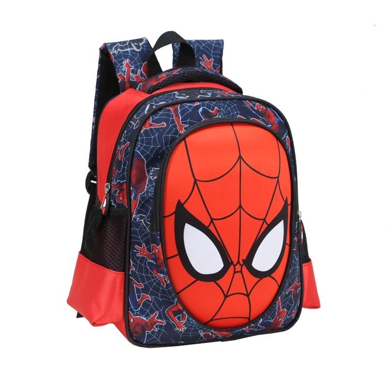2016 3d Cartoon Spiderman Kinder Schultasche Studenten 6-12 Jahre Jungen Rucksack Kids Coole Reise Große Kapazität Bag Kind Geschenk Aromatischer Geschmack