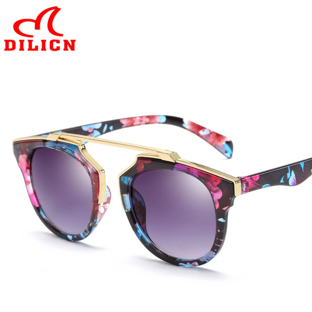 f5d830868e26c DILICN Super Star Retro Sunglasses Women Men Casual Vintage Designer Sun  Glasses Classic Flower Oculos De Sol Feminino UV400