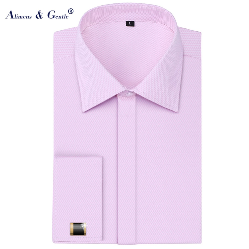 Men 39 s business french front dress shirt tuxedo long sleeve for European mens dress shirts