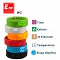 E mi w2 esportes aptidão rastreador banda inteligente pulseira pulseira pedômetro e real-tempo de exibição da temperatura apoio monitor de sono