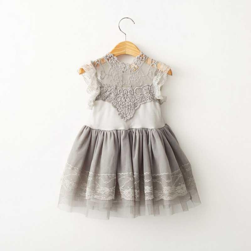 Flower girl princess dress toddler baby wedding party for Toddler girl wedding dresses