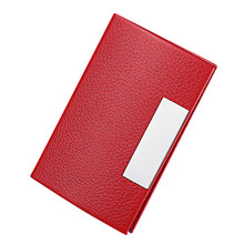 Unisex Creative Business Credit Card Holder Metal Dedicated Antimagnetic Leatherette Stainless Steel Business Wallet Card