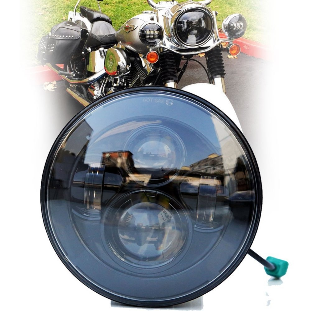 7 inch led Motorcycles headlight with DOT high/low beam led driving light for Harley Motorcycles E-mark Approval 7 inch motorcycles headlight for harley davison choppers