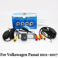 For Volkswagen Passat B7 B8 VW Passat GT 2011~2017 / RCA Wire Or Wireless / HD Wide Lens Angle CCD Night Vision Rear View Camera