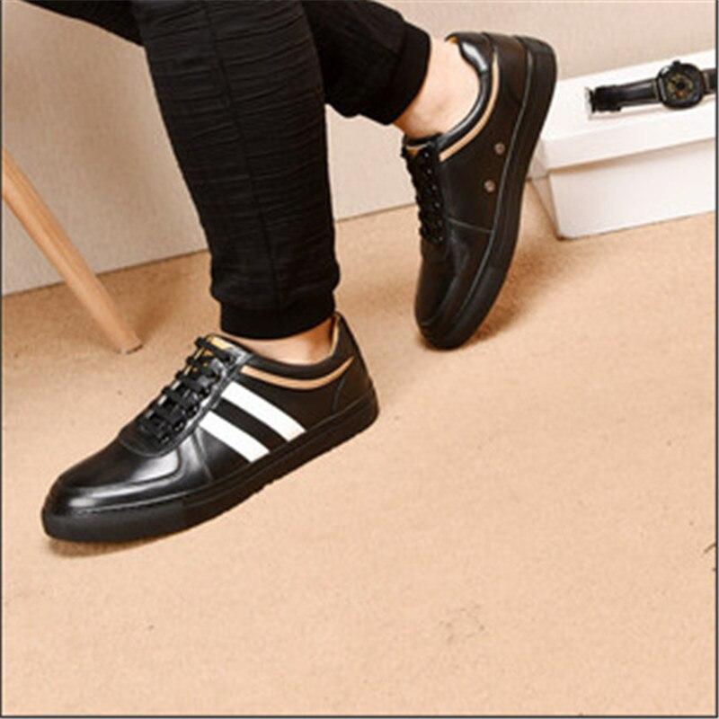 Hombres Diseñador Cuero De Modelos Hombre Lujo Los Excelente Zapatos Calidad Genuino blue Moda Vaca white Black XqxgwwUEz